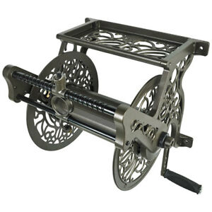 Liberty-Garden-LBG707-Wall-Mounted-Heavy-Gauge-Aluminum-Hose-Reel-with-Guide