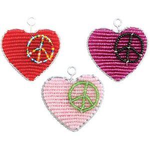 Acheter Pas Cher Beadworx-cœur De La Paix-porte-clé - Perles Travail Populaire Perles De Verre-afficher Le Titre D'origine