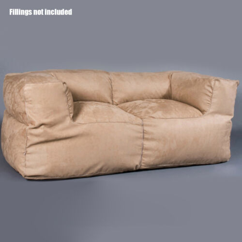 Fashion Indoor Reading Movie Couch Loveseat Soft Bean Bag Cover Navy BB2PNVY
