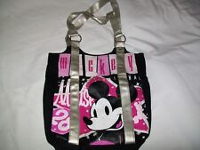 Disney Mickey Large Black Canvas Tote Bag With Glitter Design and Silver  Handles 4585d4ea8c1a4