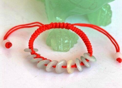 Mignon Bracelet à Breloques en Jade Réglable