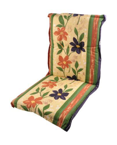 Polsterauflage für Niedriglehner-Gartenstühle Sitzkissen Sesselauflage Auflage