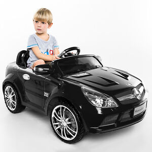 12V Mercedes-Benz SL65 Kids Ride On Car RC Remote Control Christmas Gift Black