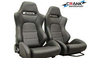 2-x-Crank-Motorsport-SR5-seat-in-Ultra-hard-wearing-PVC