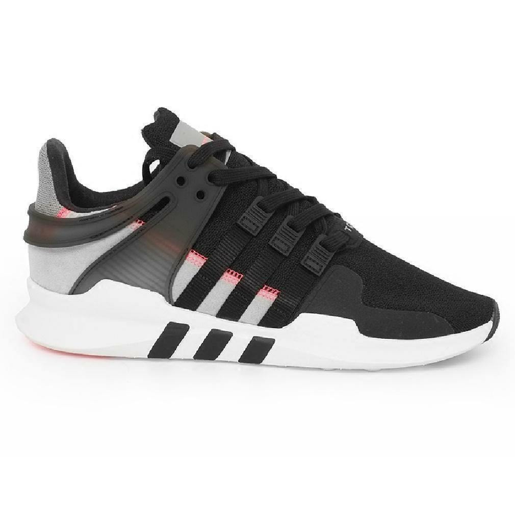Mens ADIDAS EQUIPMENT SUPPORT ADV Black Trainers S76962