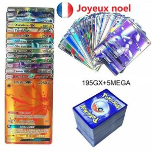 FR-200pcs-Pokemon-carte-GX-Toutes-MEGA-Holo-Flash-Art-Trading-Cards-Xmas-Cadeau