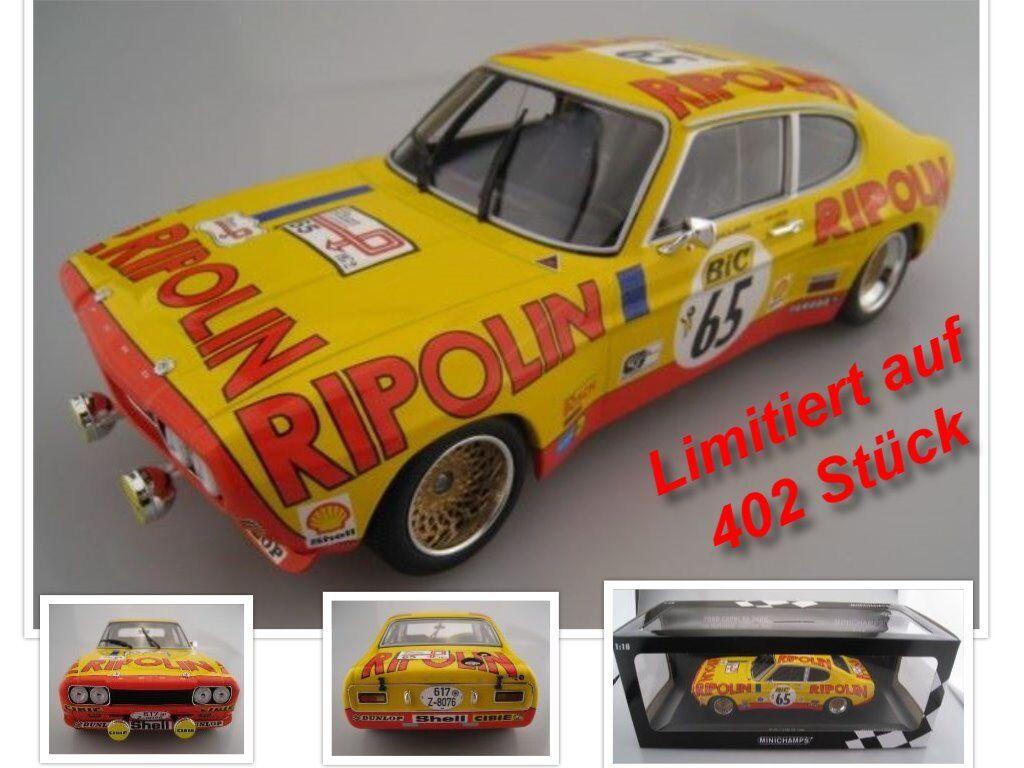 Ford Capri RS 2600 RIPOLIN limité à 402 St. Minichamps 1 18 neuf dans sa boîte NEUF