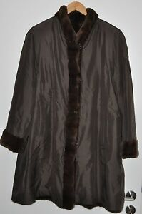 indossato Cappotto 44 visone Geschorener Cappotto corto Buone Poco reversibile Visone di Cappotto condizioni rwx7r