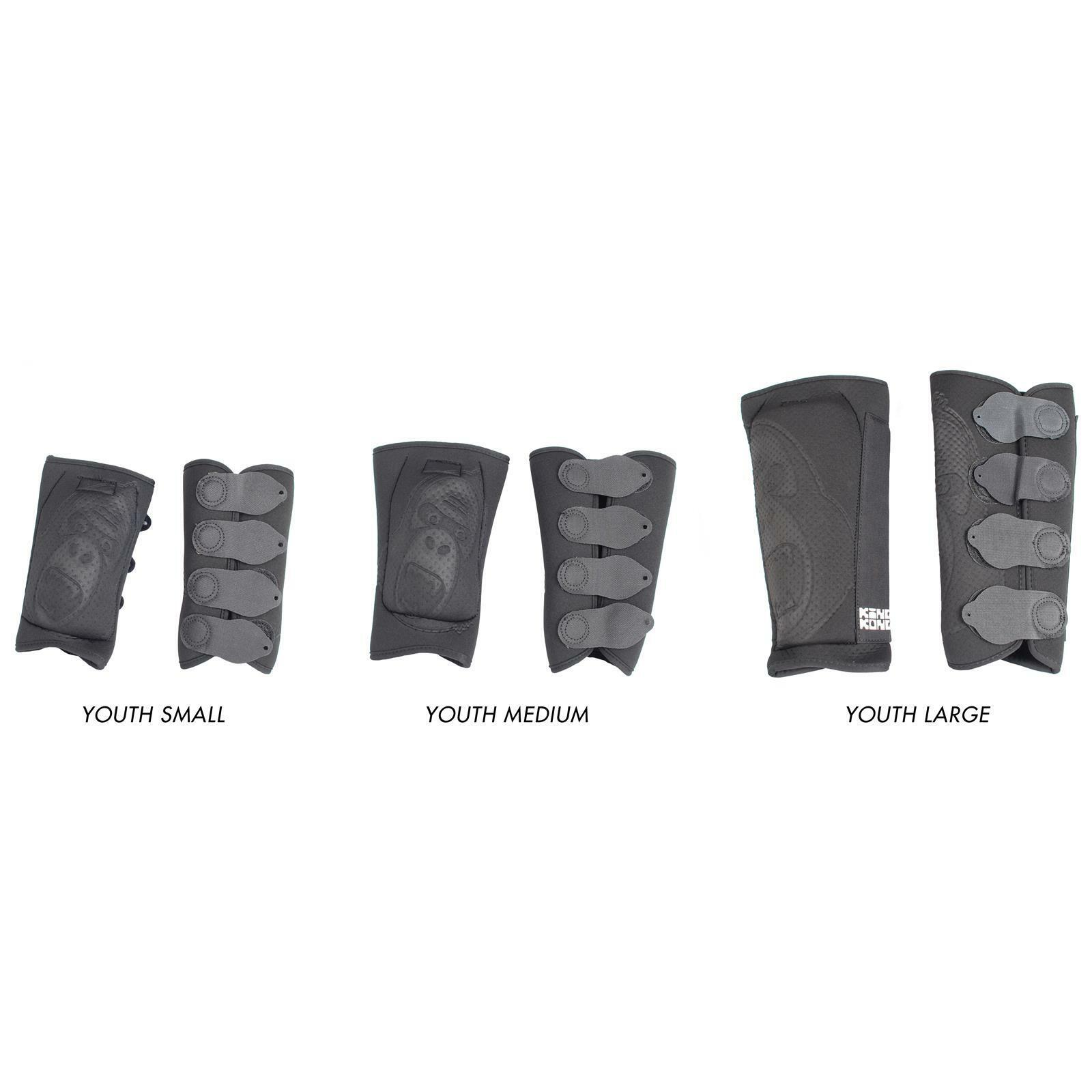 re Kong BMX djungle Gioventù Shin Pad Coppia Nero