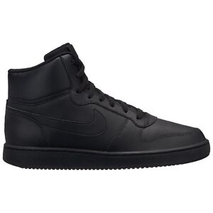 huge discount 0bff9 2c469 Image is loading Nike-ebernon-Mid-aq1773-004-HiTop-Sneakers-Black-