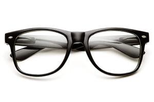 FASHION-COOL-UNISEX-Chiaro-Lente-Nerd-Geek-occhiali-Eyewear-per-Uomo-Donna-Vintage