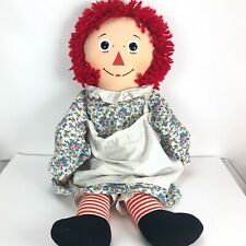 """Vintage Knickerbocker Raggedy Ann Doll 34"""" I Love You Heart and Tags"""