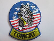 JOLLY ROGERS  TOMCAT  Embroidered  Iron - On Patch P133