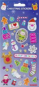 Christmas Fun Large Sparkly Fun Foiled Sticker Sheet