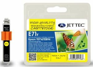 JetTec T0714 Yellow Remanufactured Ink Cartridge for Epson - E71Y MPN 101E007104