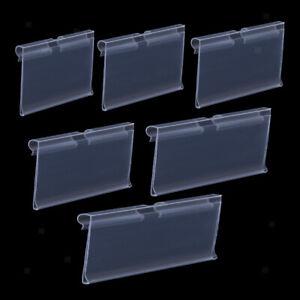 Porte-etiquette-En-Plastique-Transparent-Porte-etiquette-De-Prix-De-Detail