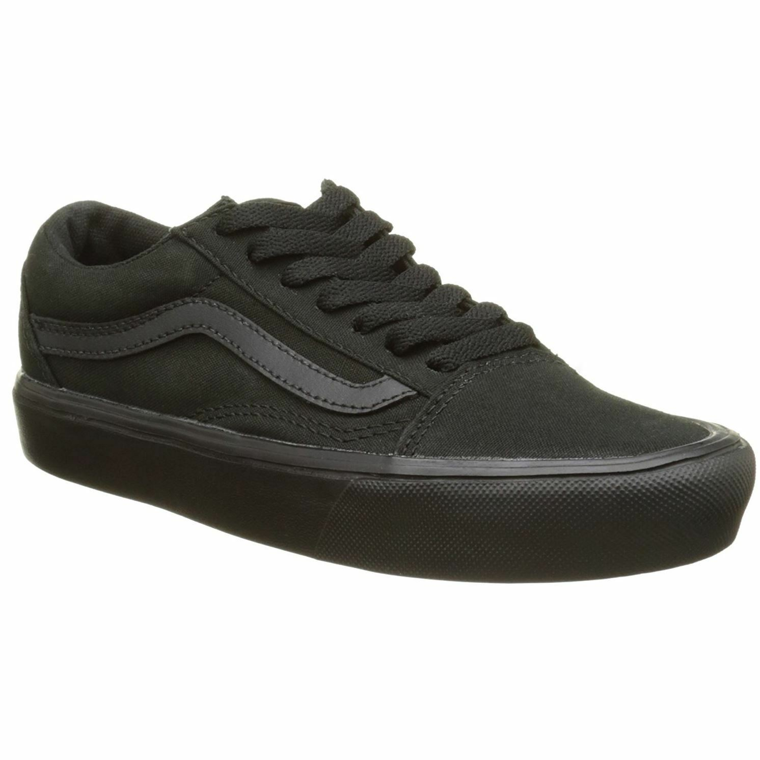 Vans Old Skool Lite Nero Uomo Canvas Low-top Lace-up Lace-up Lace-up Trainers 236a31
