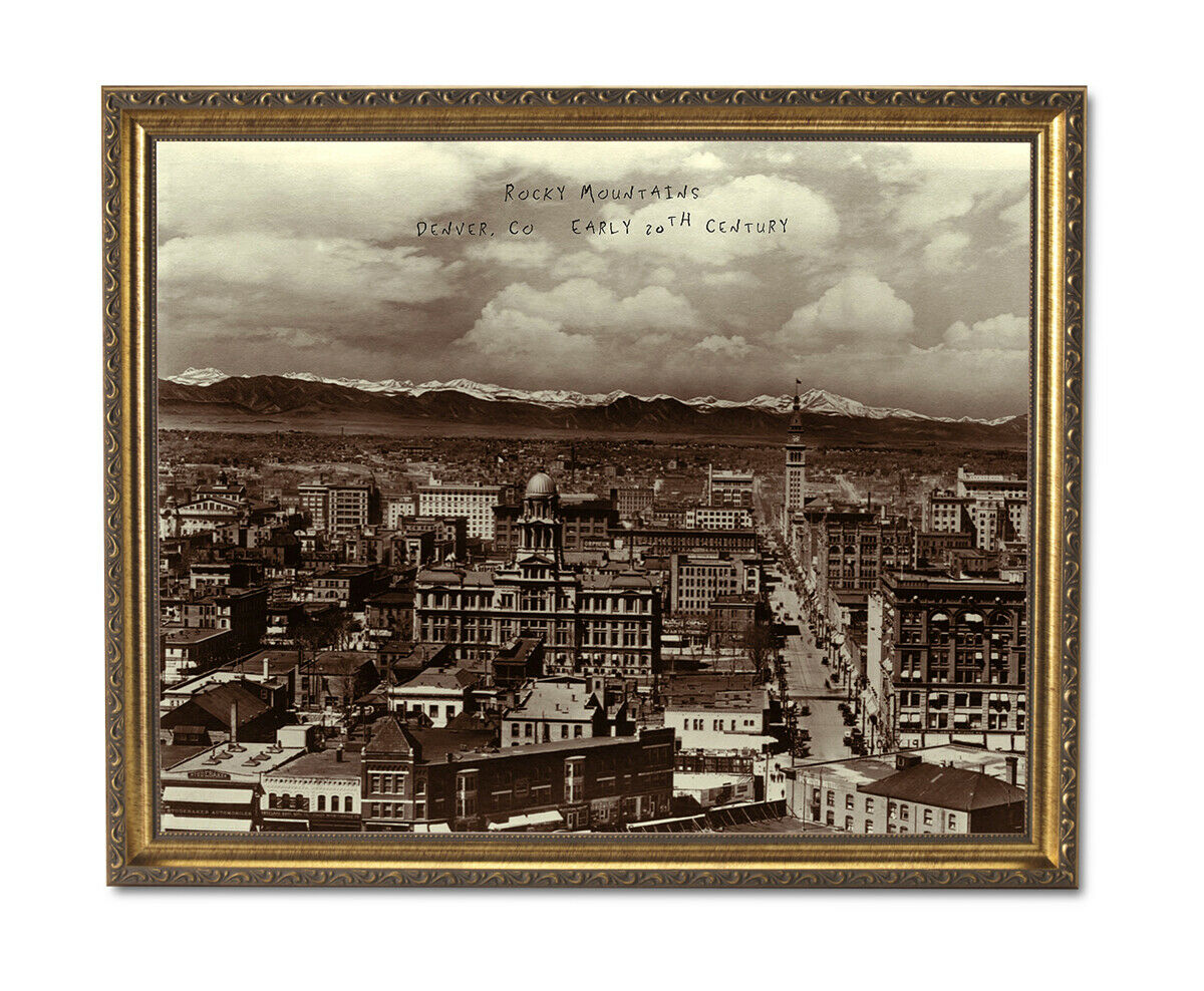 Denver Co. Rocky Mountains Photo In 1900 Wall Picture Gold Framed Art Print