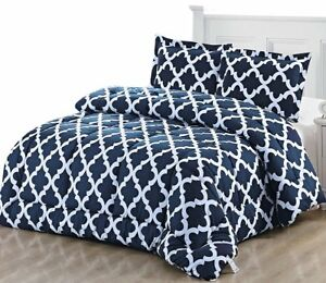 Printed-Comforter-Set-with-2-Pillow-Shams-Brushed-Microfiber-by-Utopia-Bedding