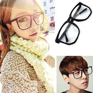 HO-FT-Unisex-Oversized-Tortoise-Shell-Nerd-Geek-Clear-Lens-Plain-Glasses-Intri