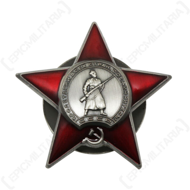Soviet Union Order Of The Red Star Award Russian Army Military