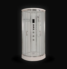 Kokss 9010B-W Corner Shower Room Enclosure with Massage Jets 1 Year Warranty