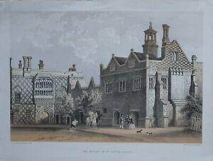 C1830 Antico Stampa The Priory Di San Osyth Essex