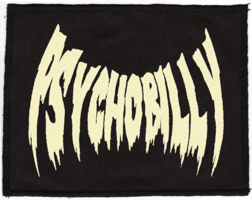 PSYCHOBILLY FLESH TONE BLACK PATCH VAMPIRE BAT HORROR PUNK ROCKER