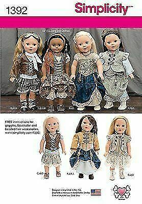1392 Simplicity Steampunk 18 Doll Clothes Sewing Pattern For Sale Online Ebay