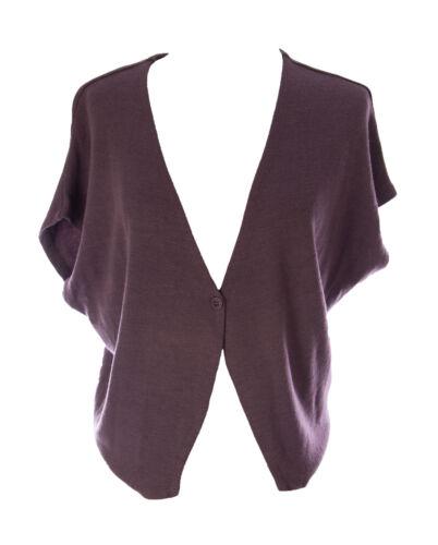 Lunn Women/'s Claire Prunelle Dolman Sleeve Knit Waistcoat H103LM105 $85 NEW