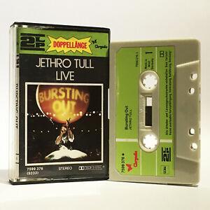 Jethro Tull - Live - Bursting Out - VG+ 1978 2LP Cassette - Chrysalis - 7599 376