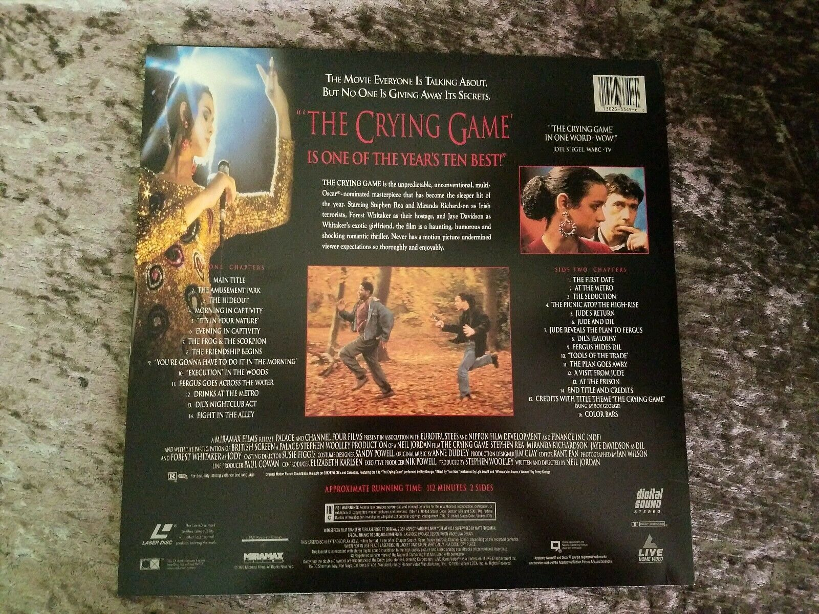 The Crying Game Laserdisc RARE Laserdiscs Widescreen Editions Laser Disc