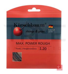 Amical Kirschbaum Max Power Rough Tennis String Set - 17 L/1.20 Mm-afficher Le Titre D'origine RéSistance Au Froissement