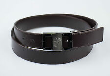 NIB. VERSACE COLLECTION Medusa Brown Leather Belt Size 48 Cut To Size $295