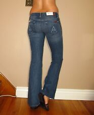 Seven 7 For All Mankind $189 A-Pocket Flip Flop Petite Inseam Flare Jeans 28