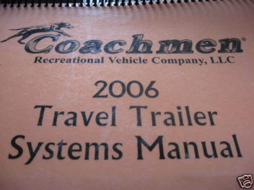 2006 Coachmen Systems Manual Captiva 260 RBS