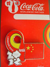 COCA COLA PIN BADGE - LONDON 2012 - COUNTRY FLAG - CHINA - MOC