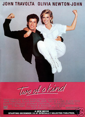 Two of the kind John Travolta vintage movie poster