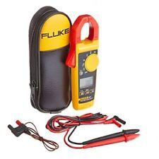 Fluke 325 True Rms Acdc Clamp Meter Temperature Probe Leads Amp C23 Case