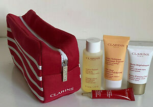 CLARINS-TONING-LOTION-GENTLE-CLEANSER-EXTRA-FIRMING-DAY-CREAM-EYE-CREAM