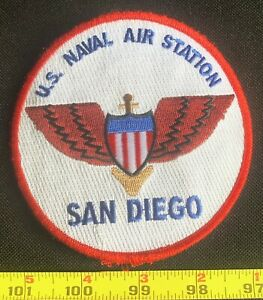 US Military US Navy Naval Air Station NAS San Diego Embroidered Iron On Patch