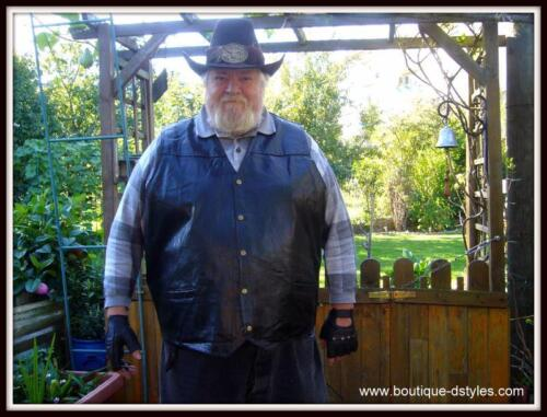Bikers country homme ou femme Grande taille Gilet en Cuir sans manches