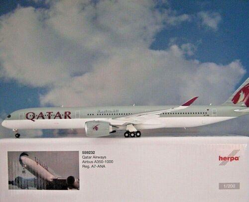 Herpa Wings 1:200 airbus a350-1000 qatar airways a7-ana 559232