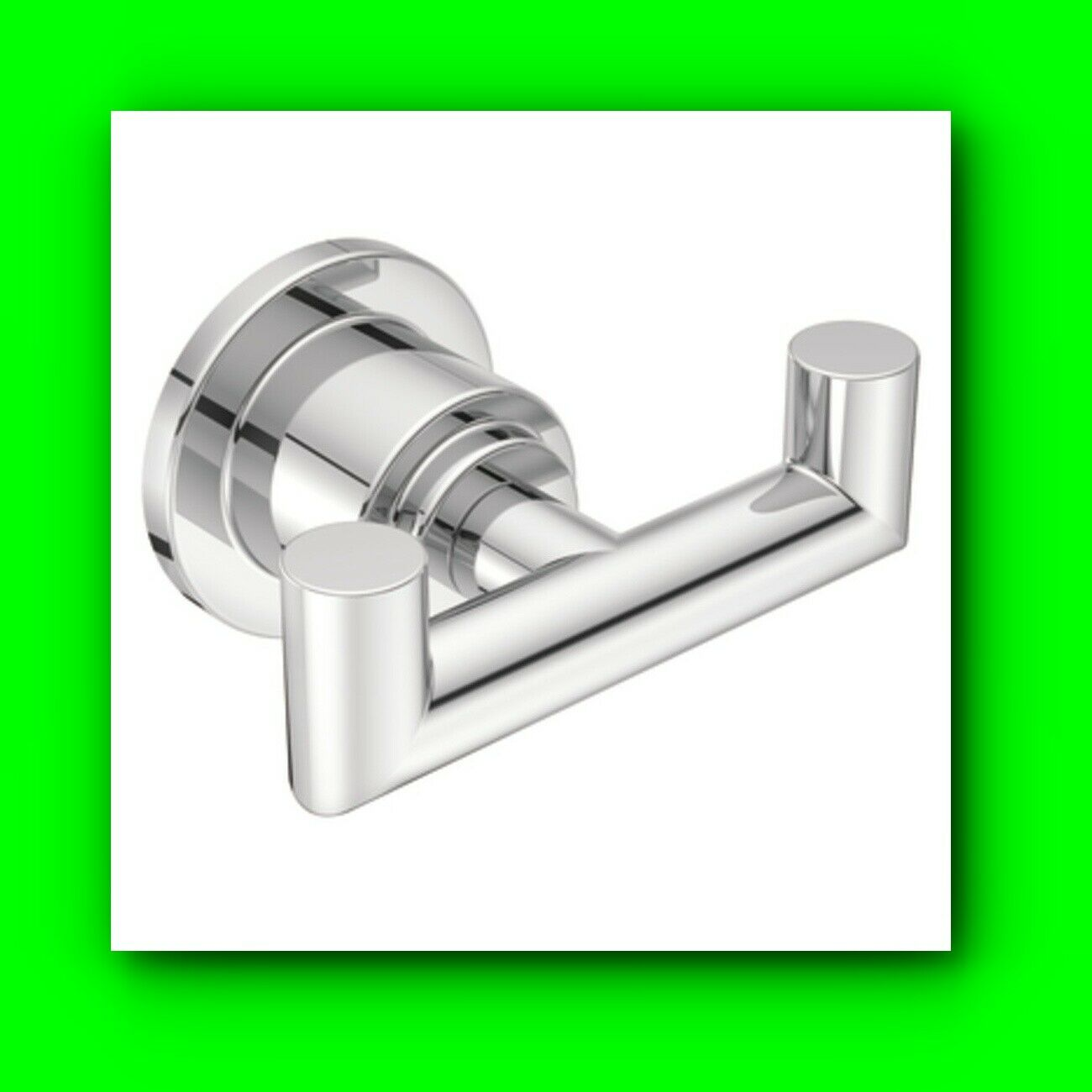 Moen CSIYB0803CH Double Robe Hook from the Arris Collection - Chrome