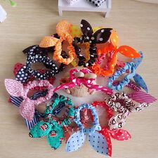 Lot 10PCS Fashion Korean Girls Bunny Ear Headband Rabbit Ear Hair Band Bow Tie