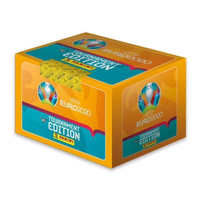 2020 Panini Euro Tournament Edition 50 pack Box 250 Stickers UEFA
