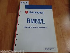 2005-SUZUKI-RM85-L-Service-Manual-OEM