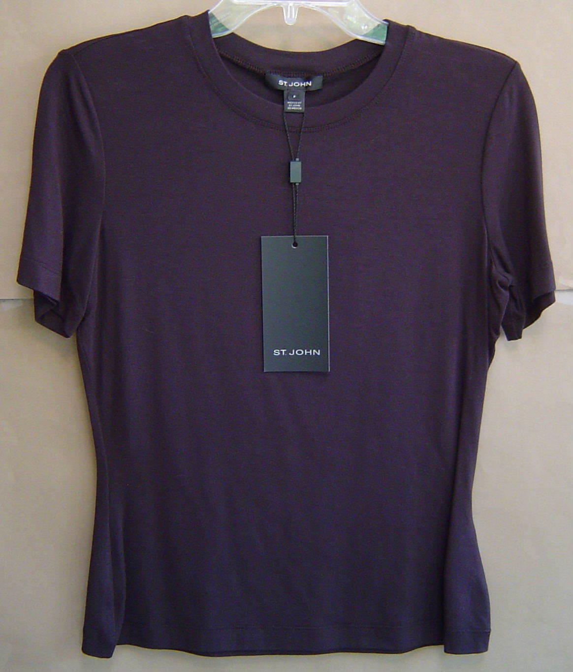 NWT  ST. JOHN Mahogany braun Shirt Blouse Top damen P Petitie R921103