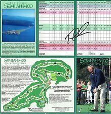 JSA Tom Lehman Autographed Signed Semiahmoo Resort Golf Scorecard TRB 095