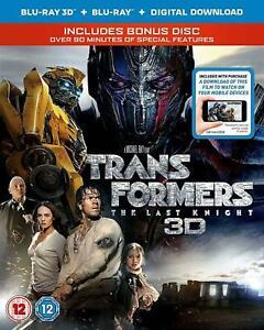 Transformers The Last Knight Blu-ray 3D + Blu-ray Brand New Sealed